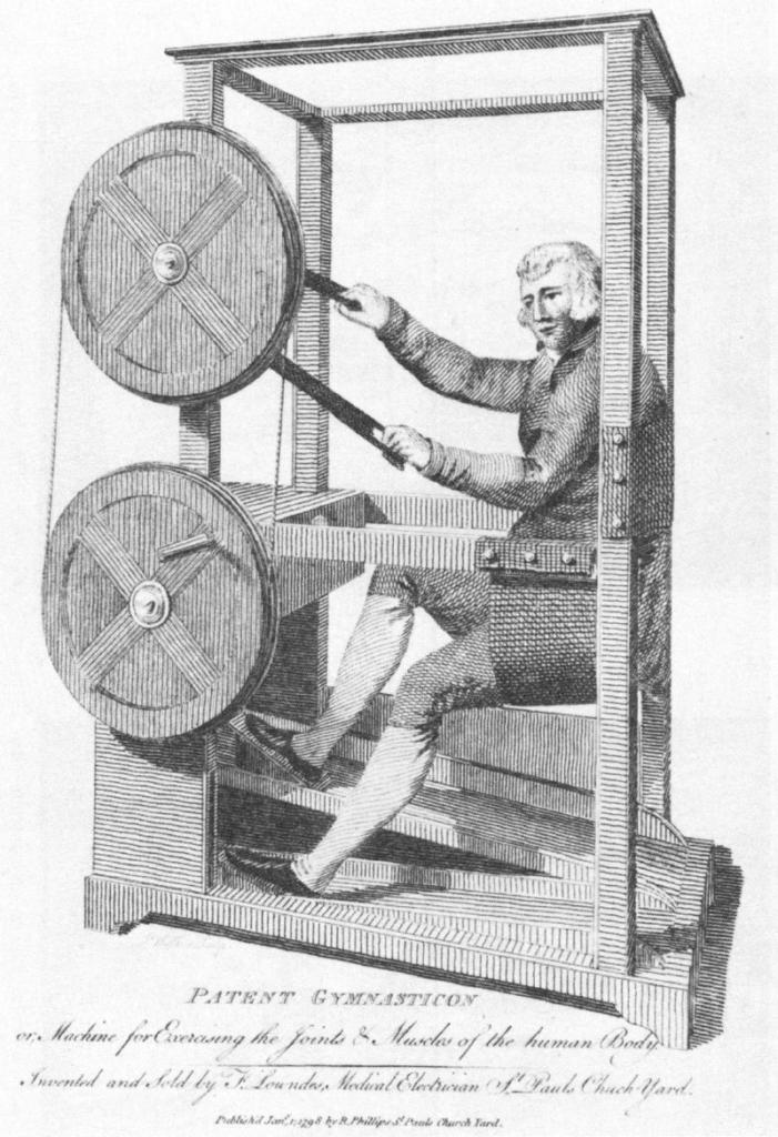 Machine étrange pour faire du sport.