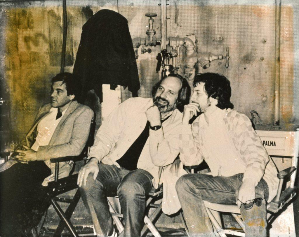 Oliver Stone avec Brian de Palma et Steven Spielberg. Crédits ; Twitter d'Oliver Stone https://twitter.com/theoliverstone/status/1287837838063685636