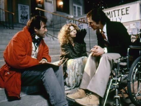 Oliver Stone avec Nicole Kidman et Tom Cruise sur le tournage de Né un 4 Juillet.