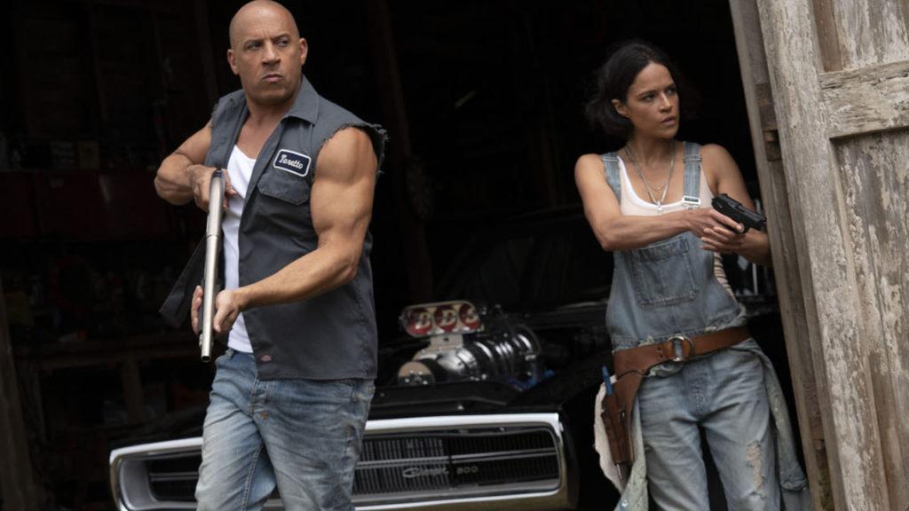 Vin Diesel et Michelle Rodriguez dans Fast and Furious 9.